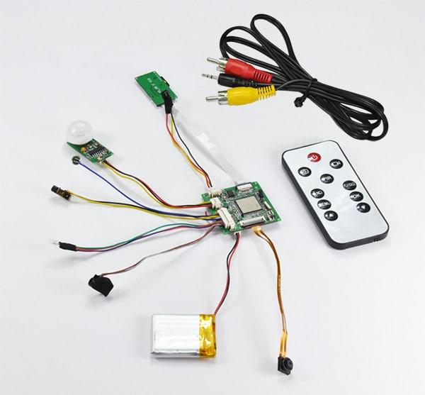 bc 720p pir kamera modul mit aufzeichnung spyshop. Black Bedroom Furniture Sets. Home Design Ideas
