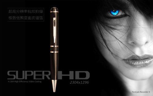 Kugelschreiber Kamera mit 2K-Full-HD-Auflösung