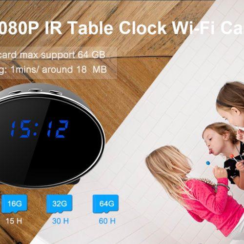 Full-HD-Kamera mit WiFi in Tischuhr 2