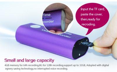 Powerbank mit integriertem Audiorecorder