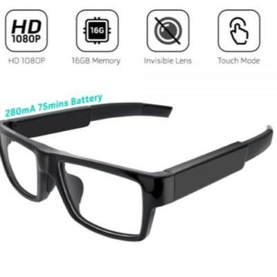 Videoüberwachung | Videobrille ohne Pinhole-Linse 1080-Full-HD