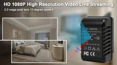 Full-HD-Kamera mit WiFi und Nachtsicht getarnt im Ladeadapter