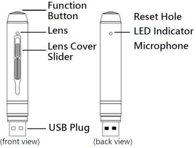 Getarnte Überwachungskamera Nachtsicht-Kugelschreiber Kamera mit 2K-Full-HD-Auflösung